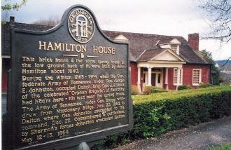 Hamilton House Historic Marker